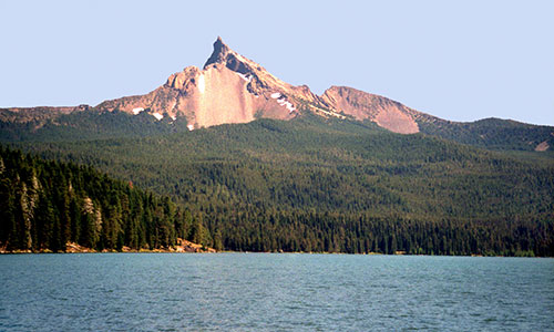 Mt. Thielsen at Diamond Lake.
