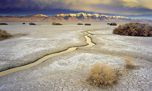 Alvord Desert with Steens Mountain.